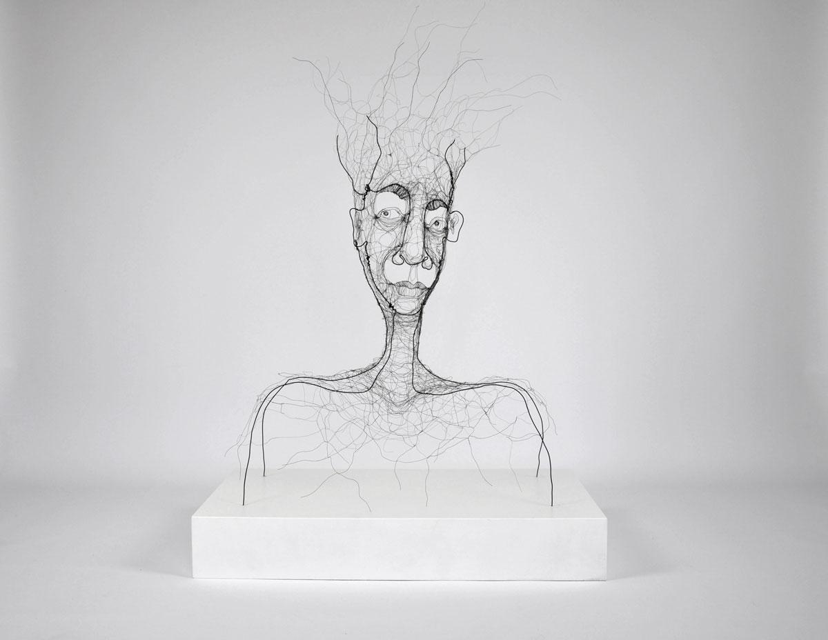 wire sculpture Open mind. wire