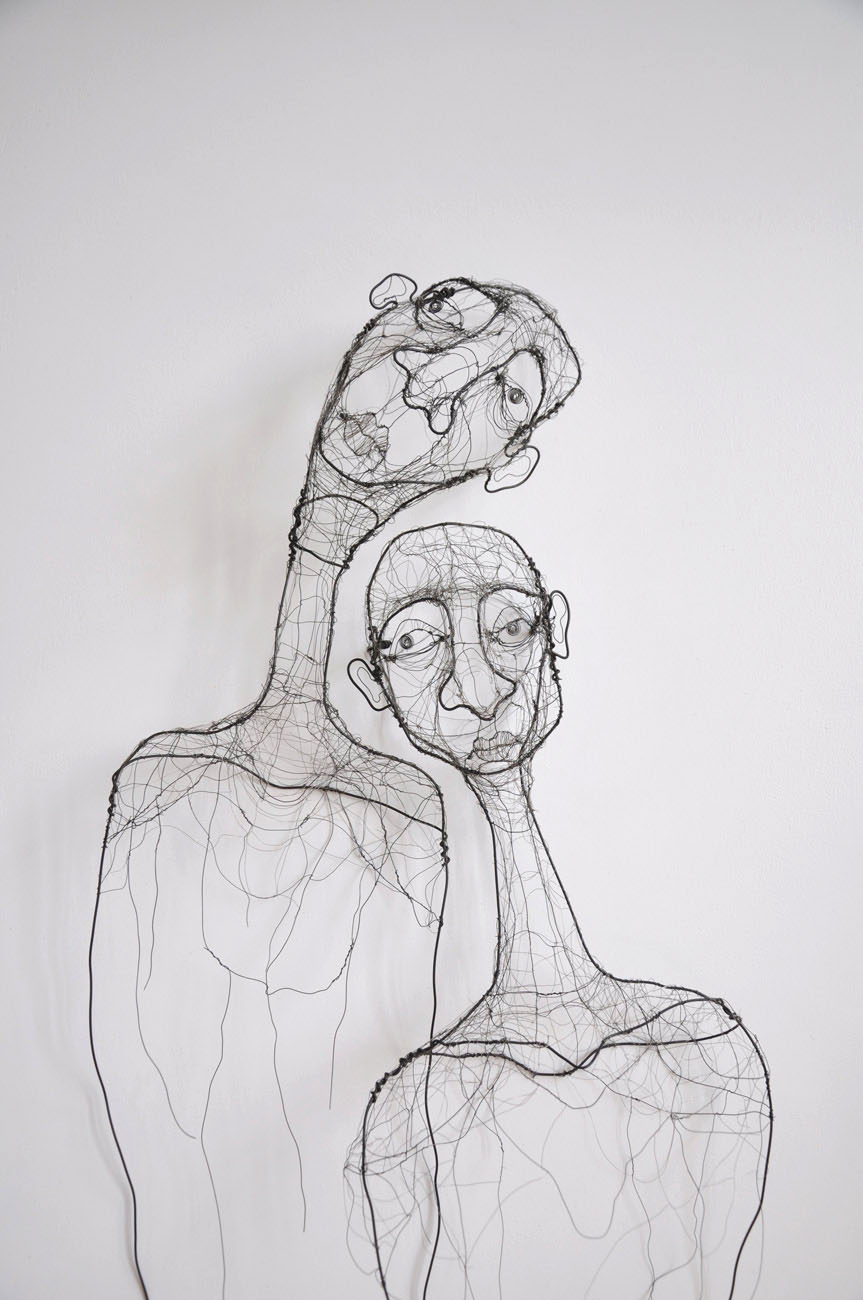 Refuge. Wire. Two wire figures